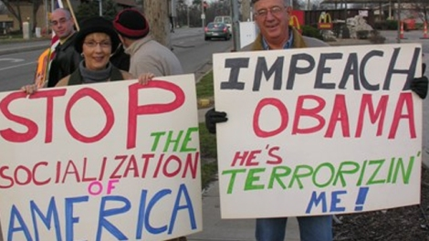Teabaggers-with-Impeach-Obama-signs